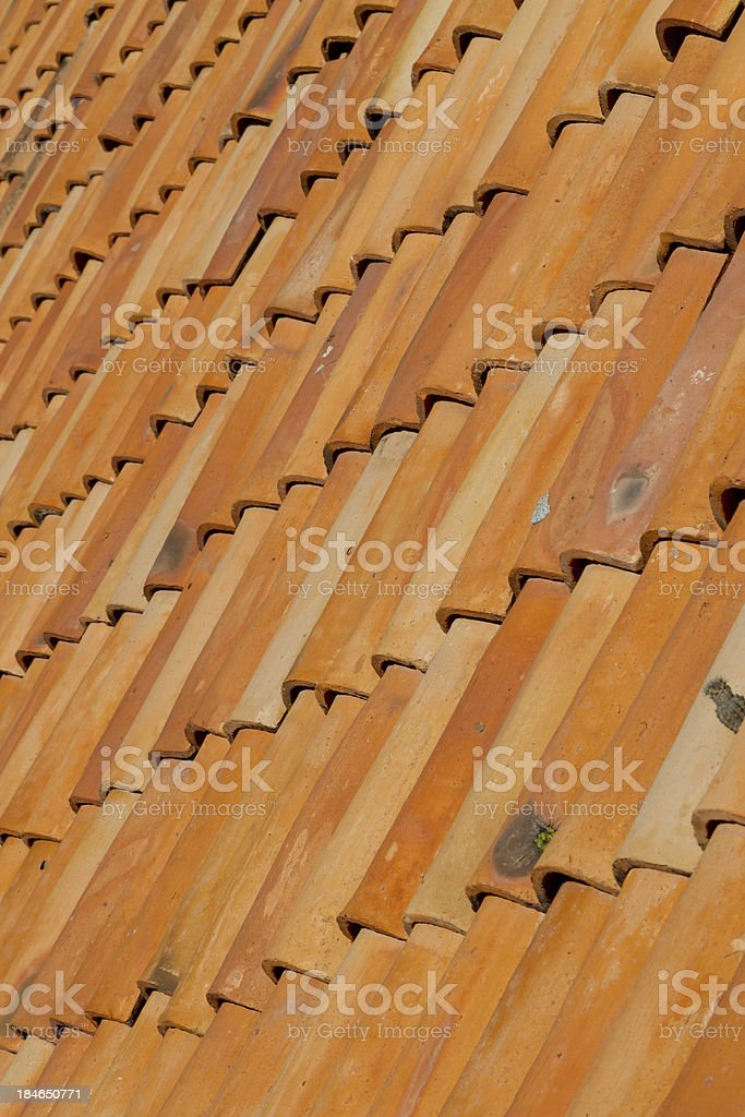 Tile Roof royalty-free stock photo