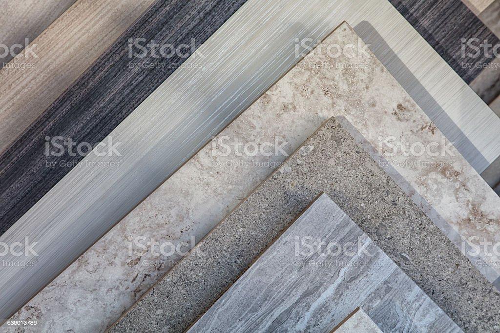 Tile samples in store stock photo