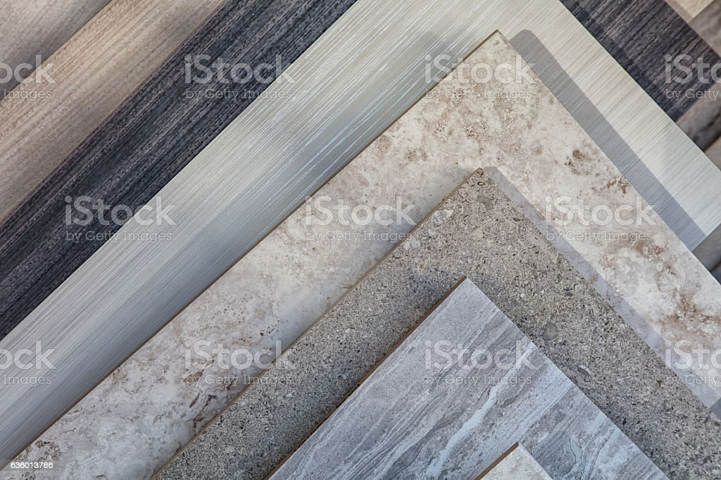 Tile samples in store stock photo