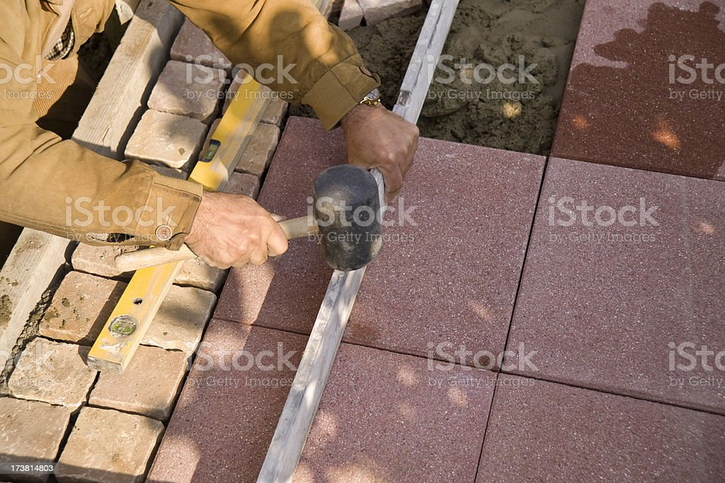 Tile setter royalty-free stock photo