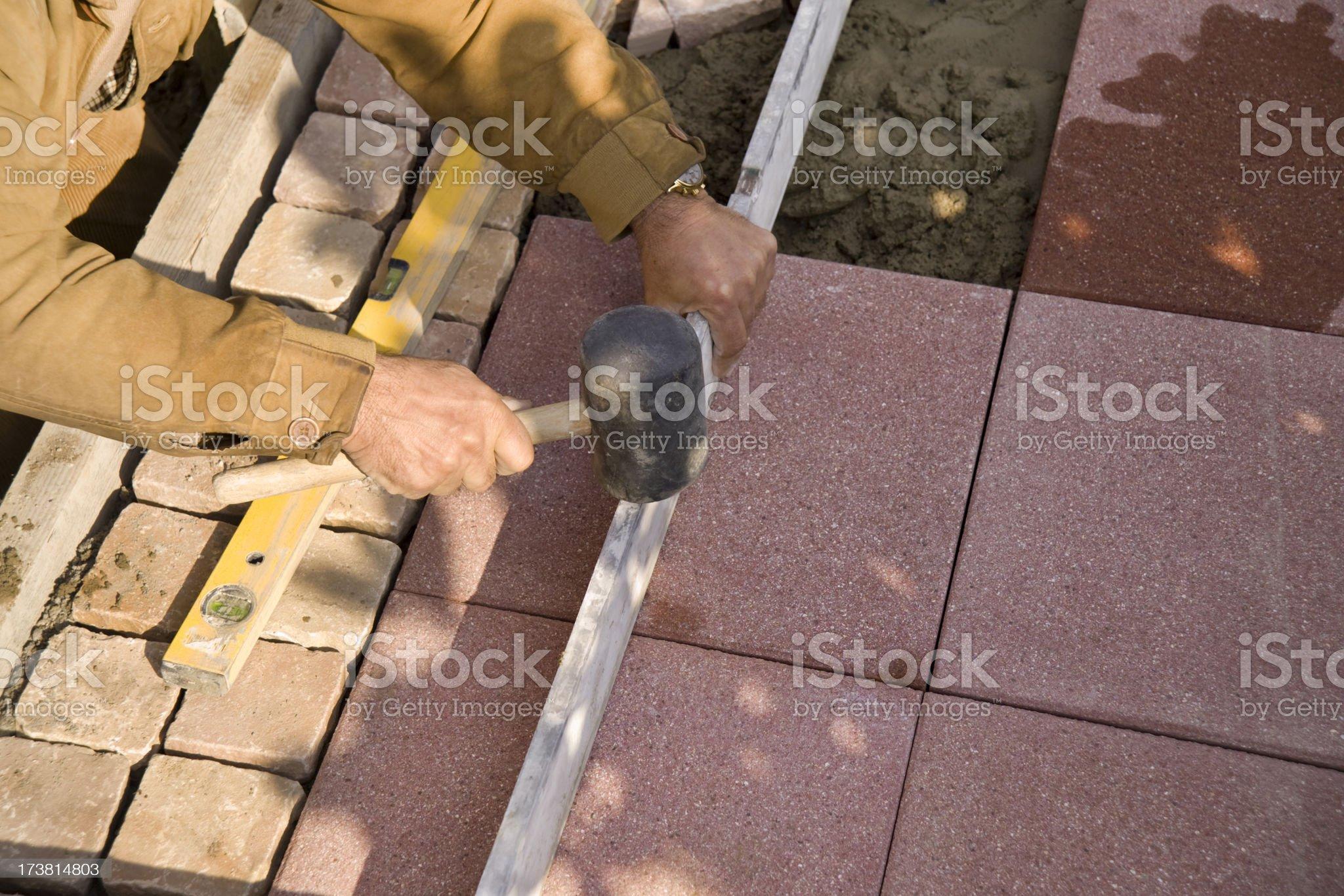 Tile setter royalty-free stock photo