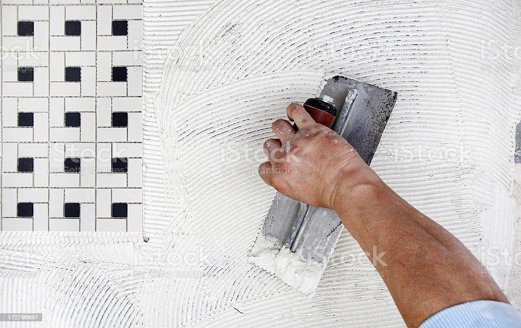 Tile work royalty-free stock photo