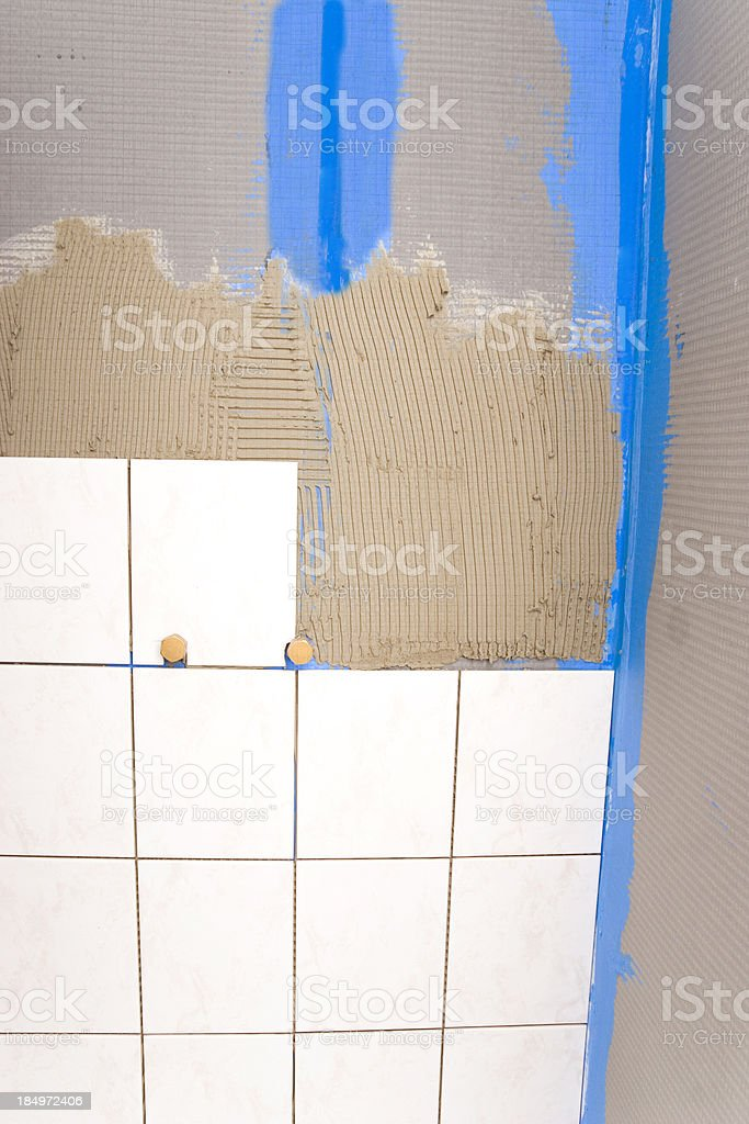 Tile Work stock photo