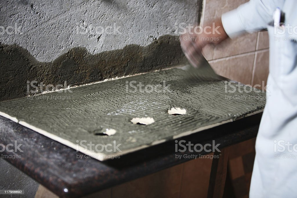 Tile Works stock photo