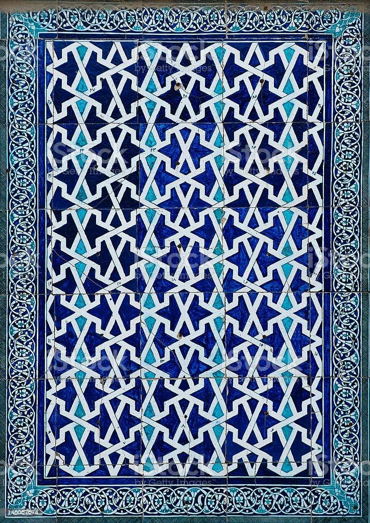 Tiled background, oriental ornaments from Uzbekistan royalty-free stock photo