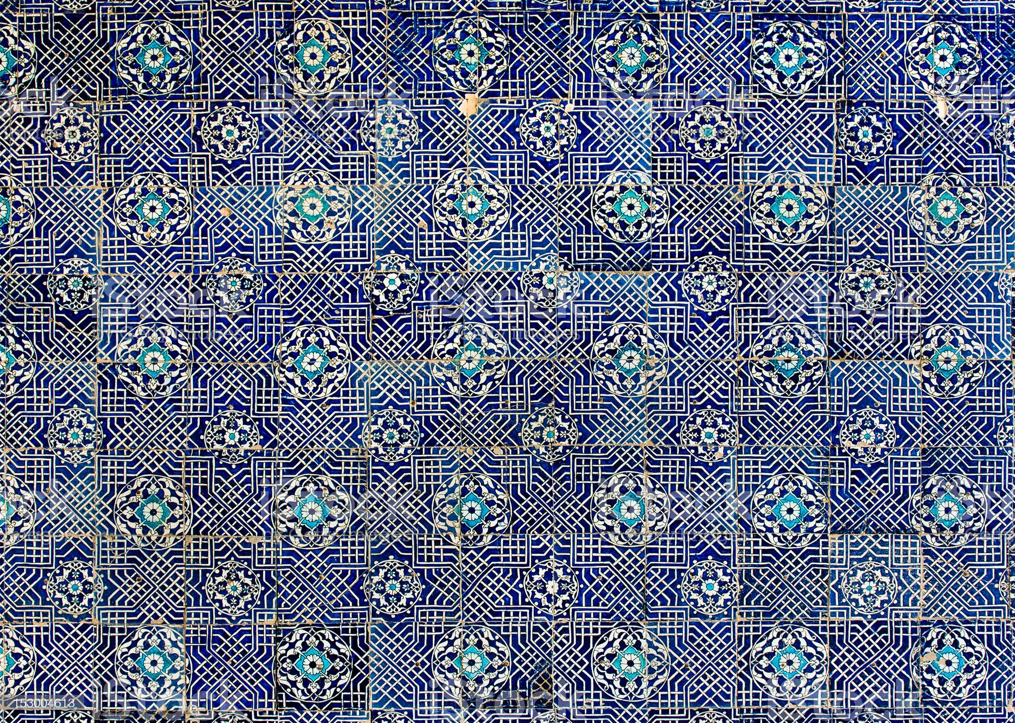Tiled background with oriental ornaments royalty-free stock photo