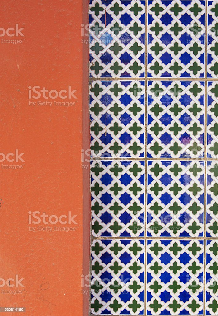 Tiled background with oriental ornaments stock photo