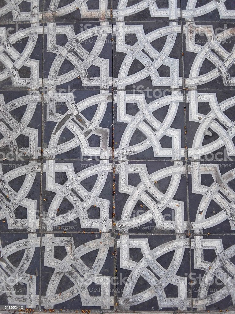 Tiled floor patterns stock photo