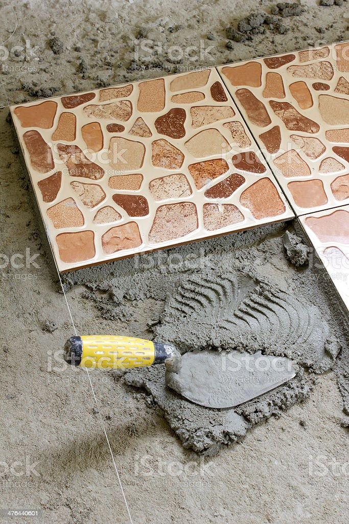 Tiled floor royalty-free stock photo
