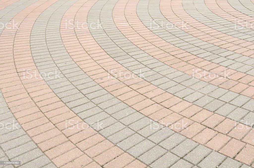Tiled Pavement royalty-free stock photo
