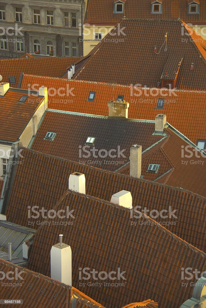 tiled red roof royalty-free stock photo