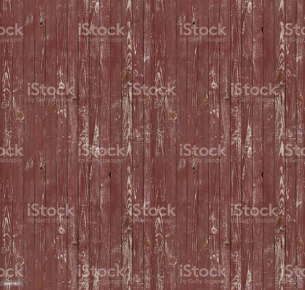 Tiled red stained wood slat background stock photo