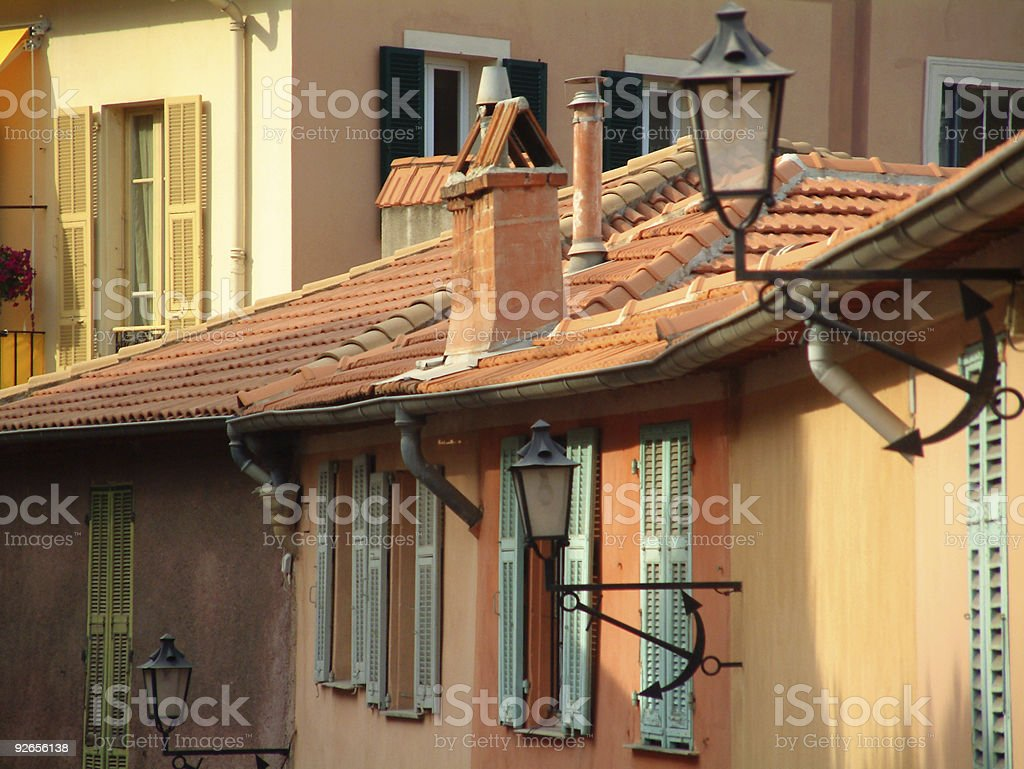 Tiled Roof on European house royalty-free stock photo