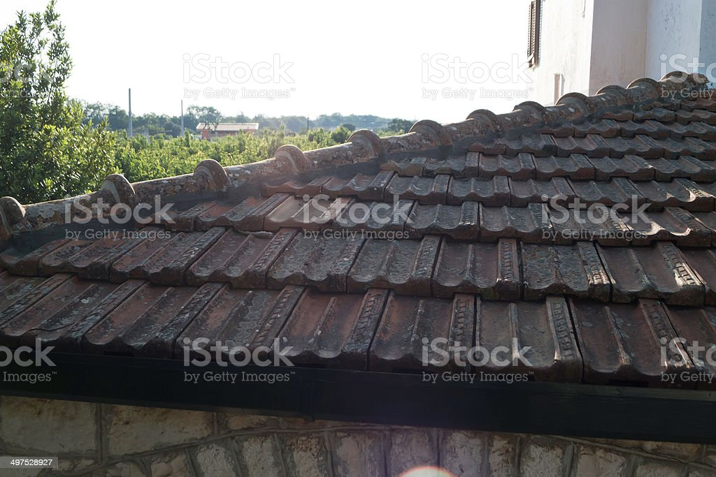 Tiled roof. stock photo