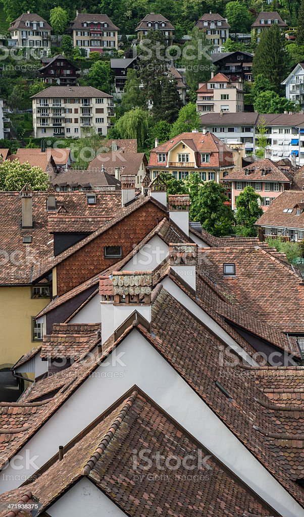 tiled roofs royalty-free stock photo