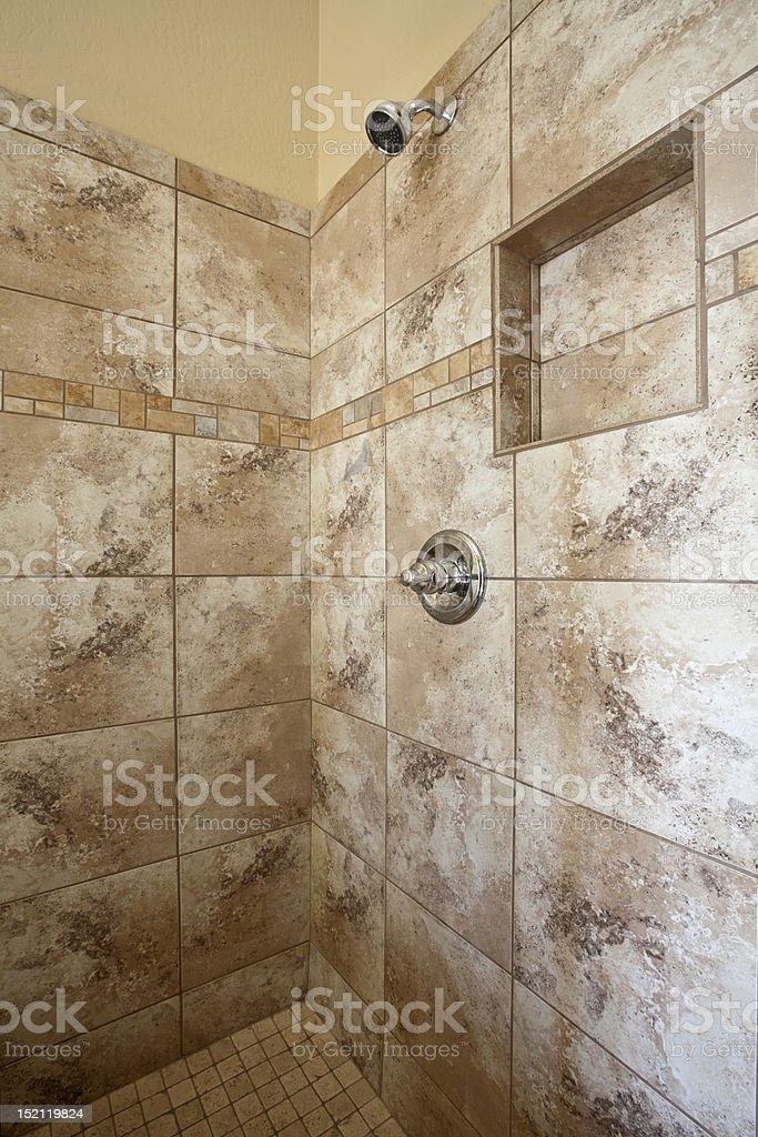 Tiled Shower stock photo