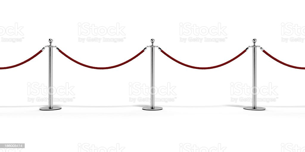 Tiled  stand barriers stock photo