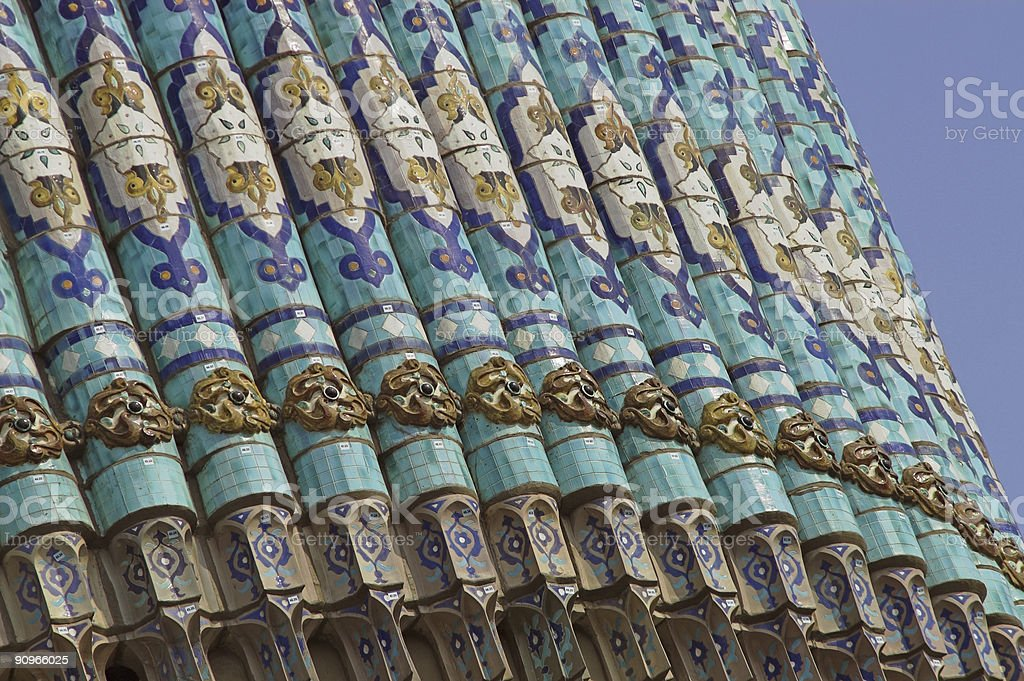 tiled wall with Arabic mosaic royalty-free stock photo