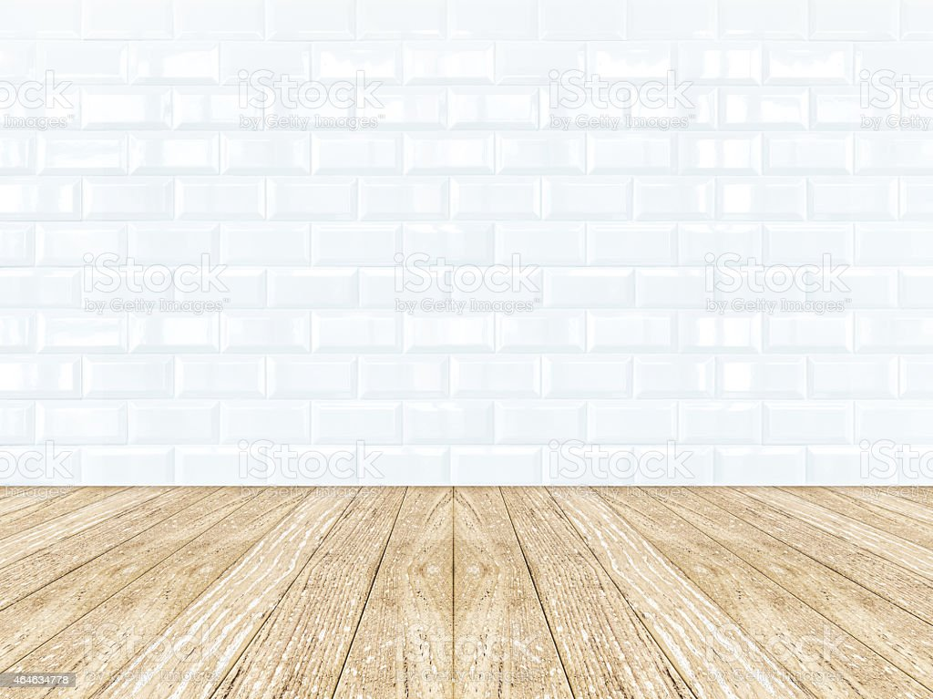 tiles ceramic wall and wooden floor stock photo