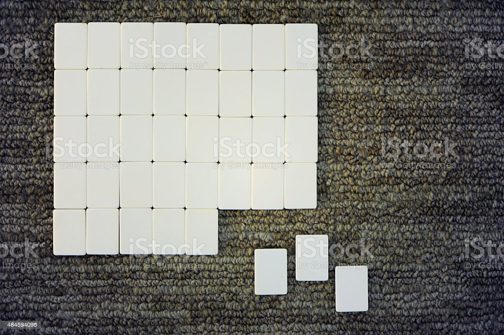 Tiles in a grid stock photo