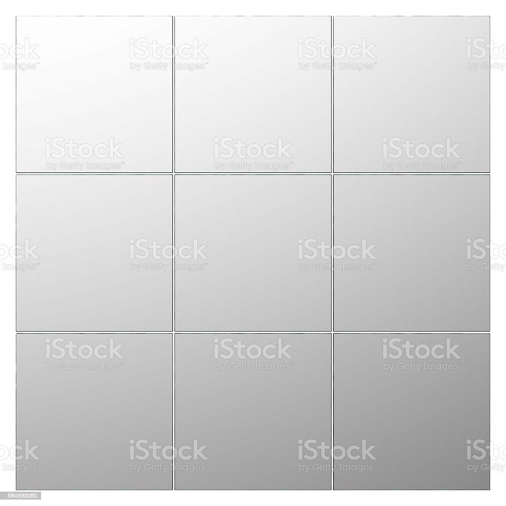 Tiles mirror isolated stock photo