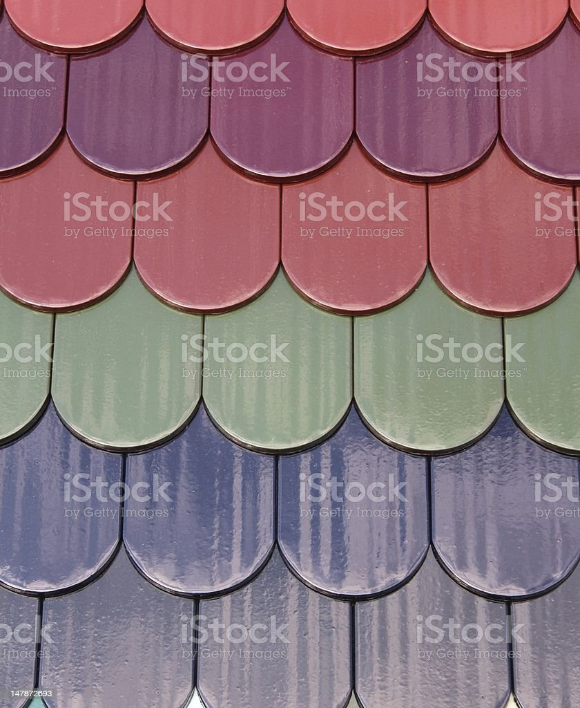 Tiles on a roof stock photo