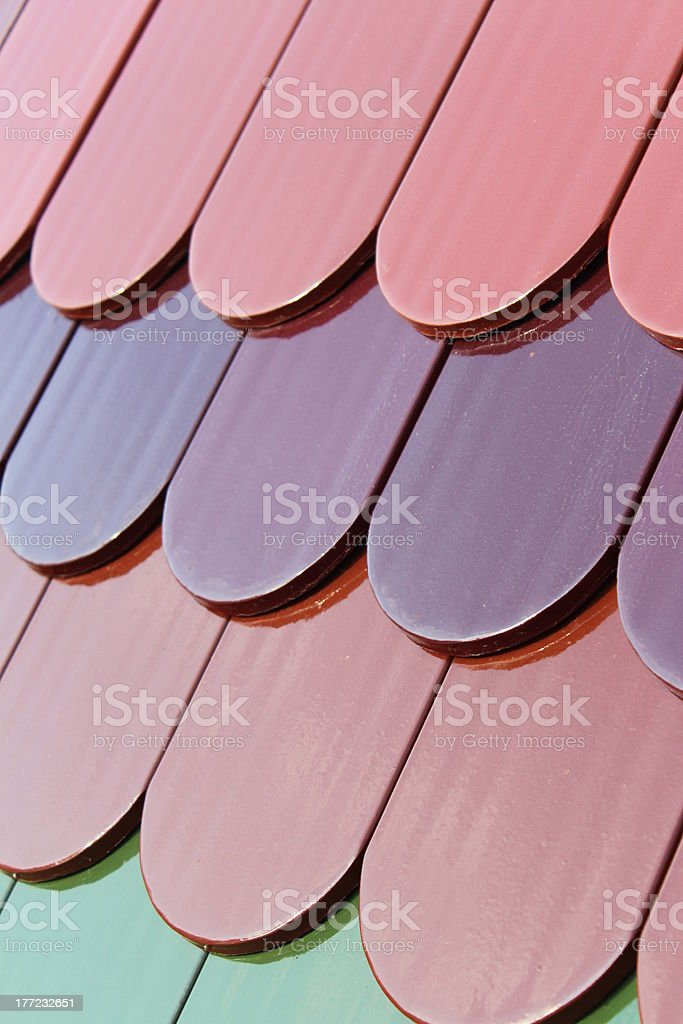 Tiles on a roof royalty-free stock photo
