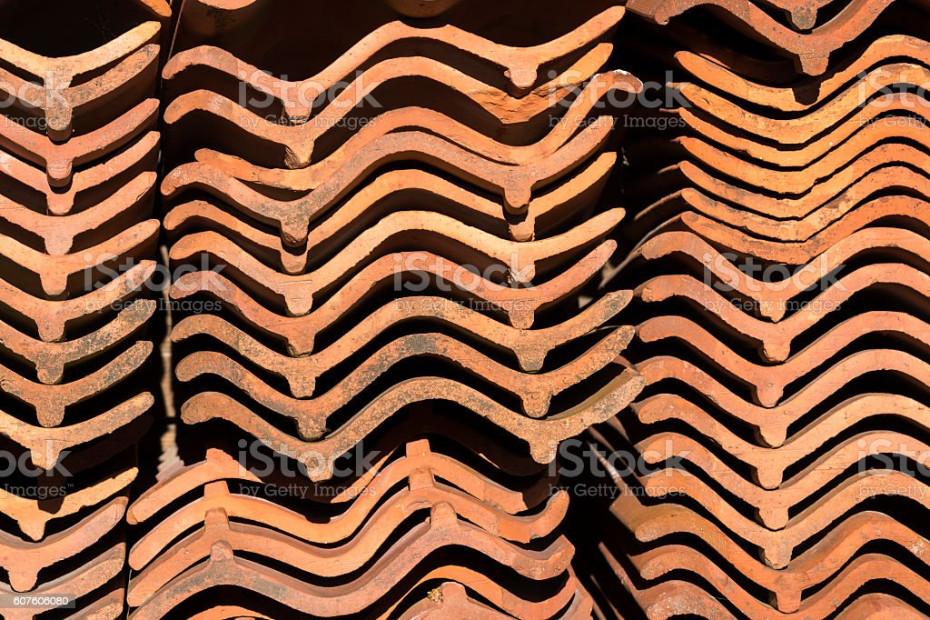 tiles stacked in Norway stock photo