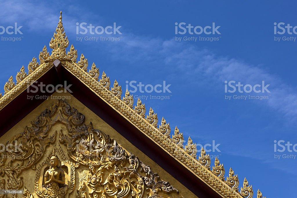 tiles temple roof bangkok royalty-free stock photo