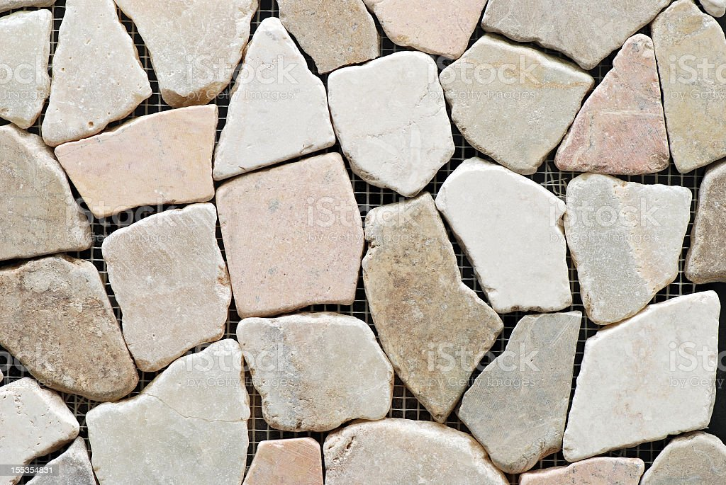 Tiles textures: stones and pebbles royalty-free stock photo
