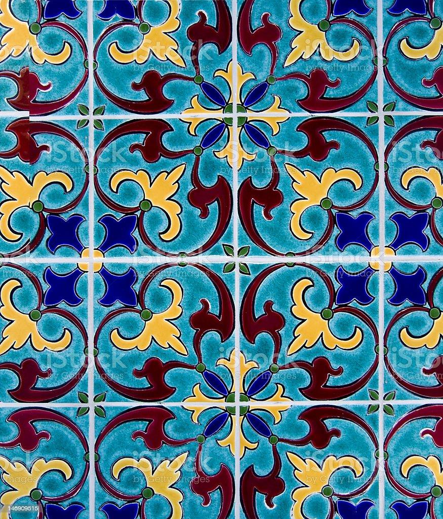 tiles wall royalty-free stock photo
