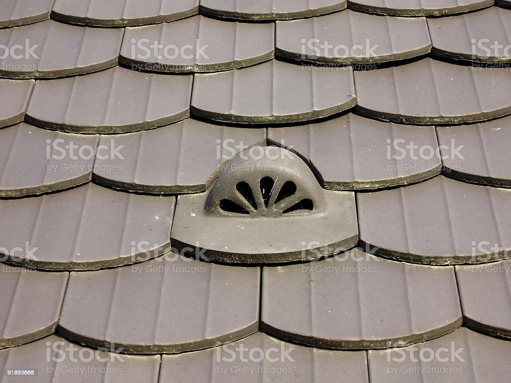 Tiles with ventilator stock photo