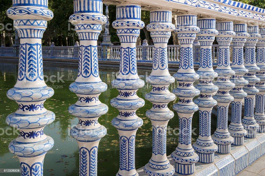 Tilework at Spanish Square in Sevilla, spain stock photo
