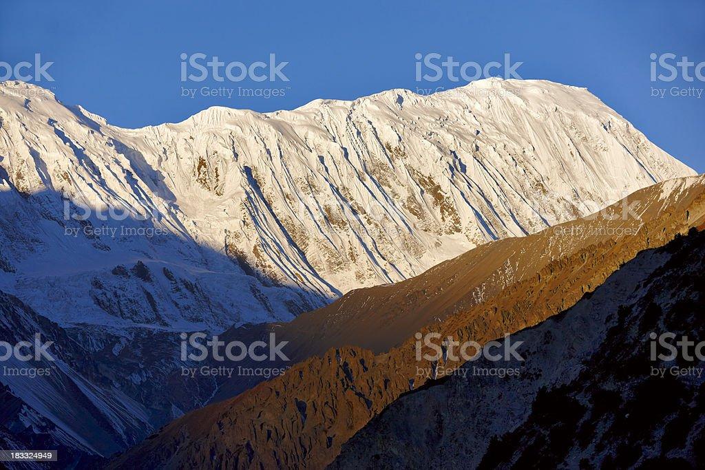 Tilicho peak. Everest & Annapurna Circuit. Nepal motives royalty-free stock photo