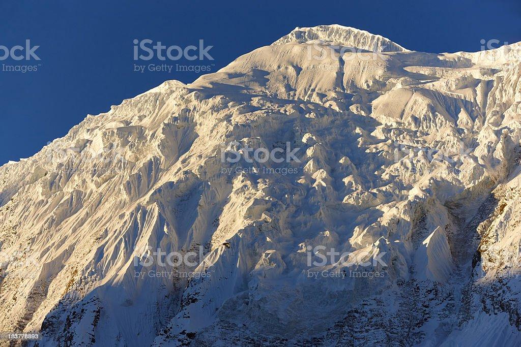 Tilicho peak. Everest and Annapurna Circuit. Nepal motives royalty-free stock photo