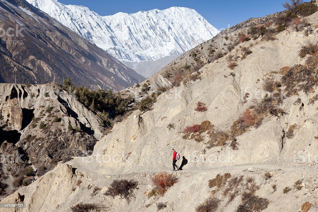 Tilicho Trek, Nepal royalty-free stock photo