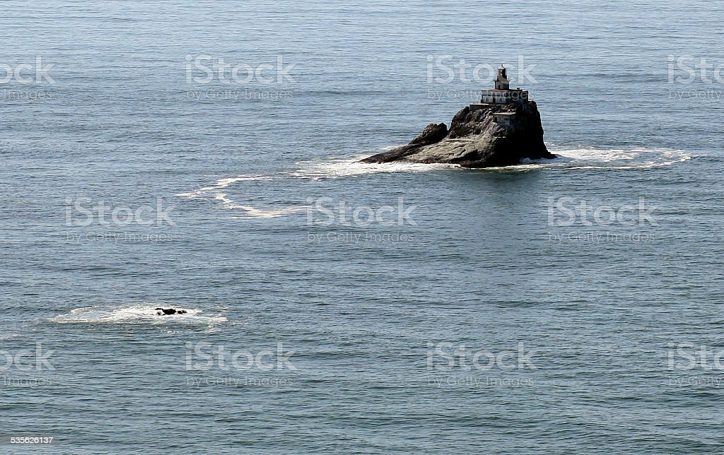 Tillamook Rock Light lighthouse, north Oregon coast stock photo