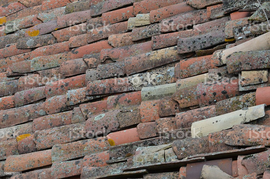 tilled roof royalty-free stock photo