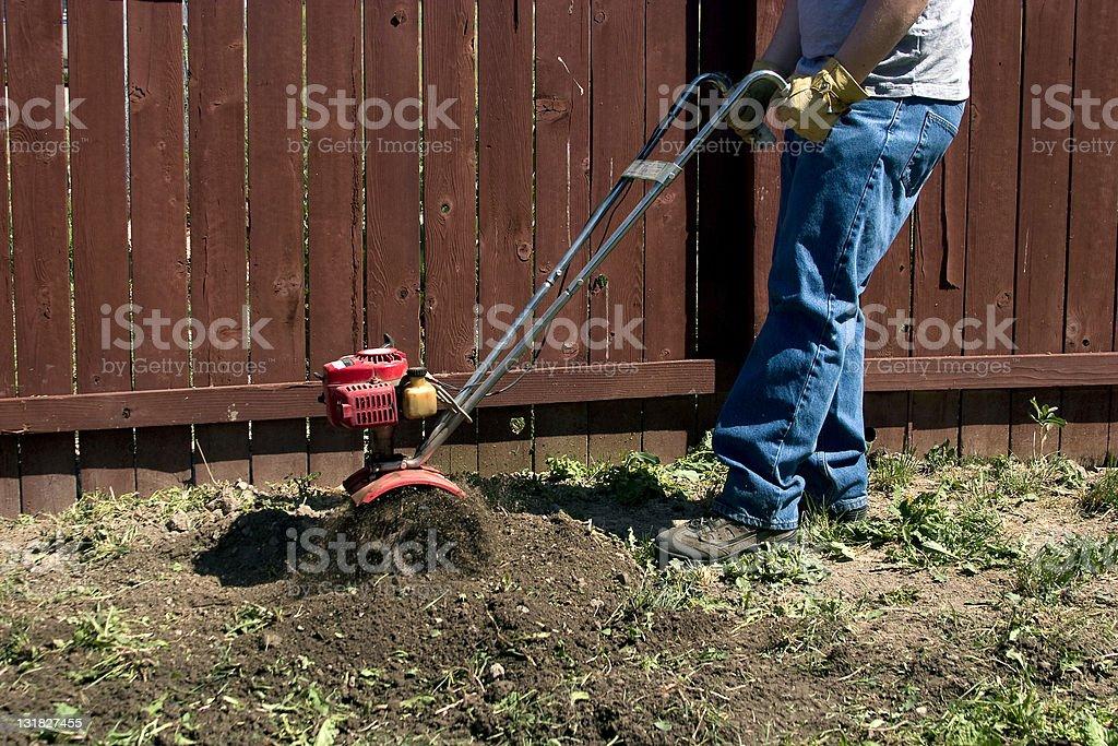 Tilling Garden stock photo