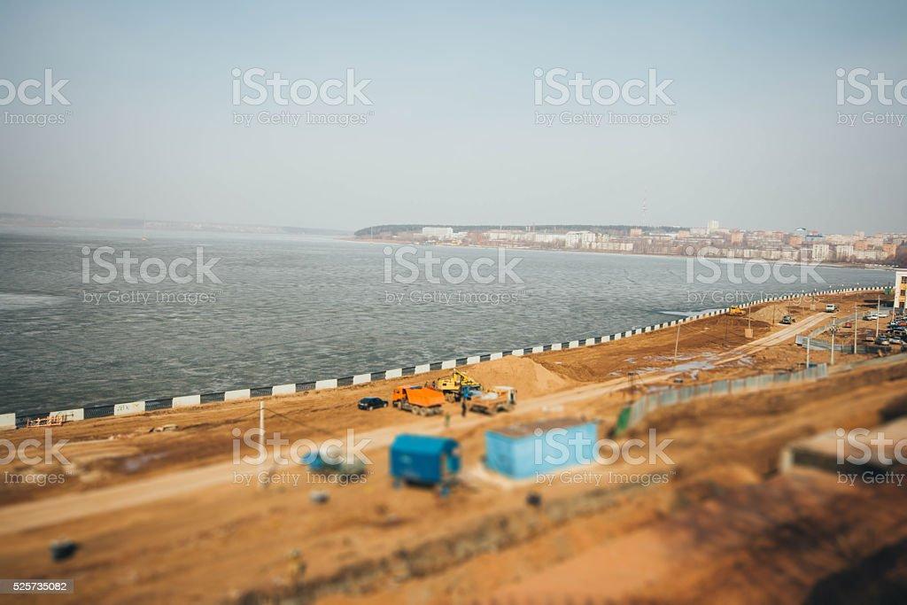 Tilt shift blur effect. stock photo