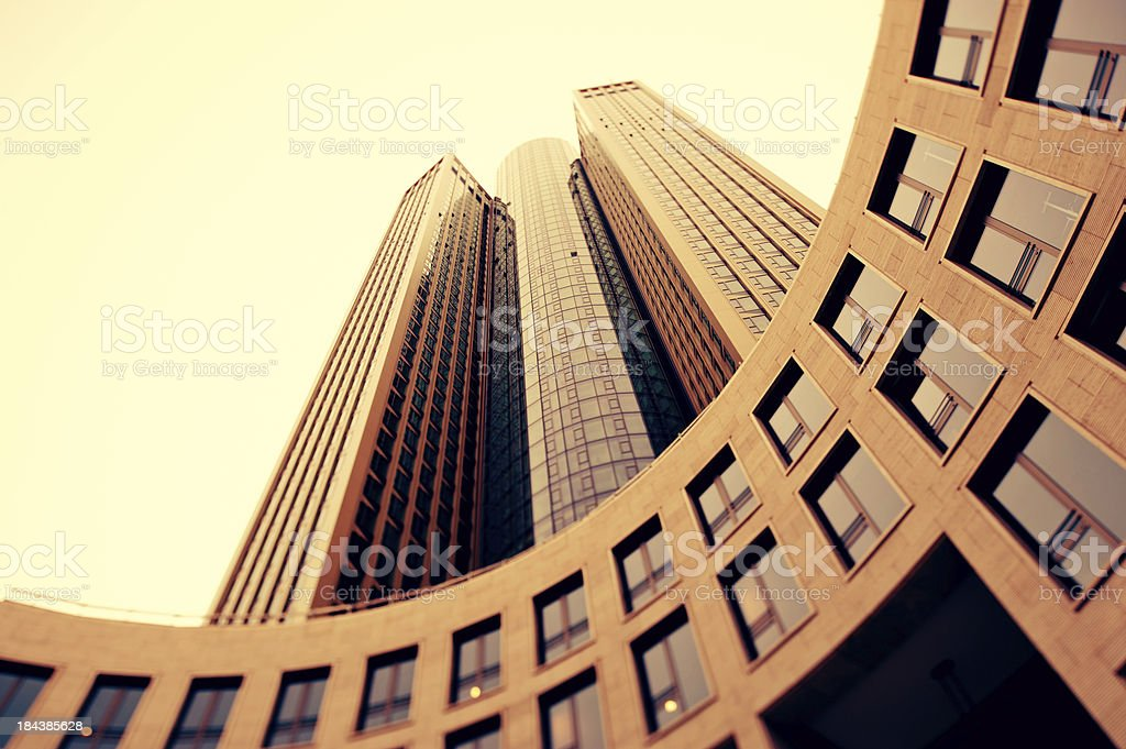 Tilt shift, Business towers royalty-free stock photo