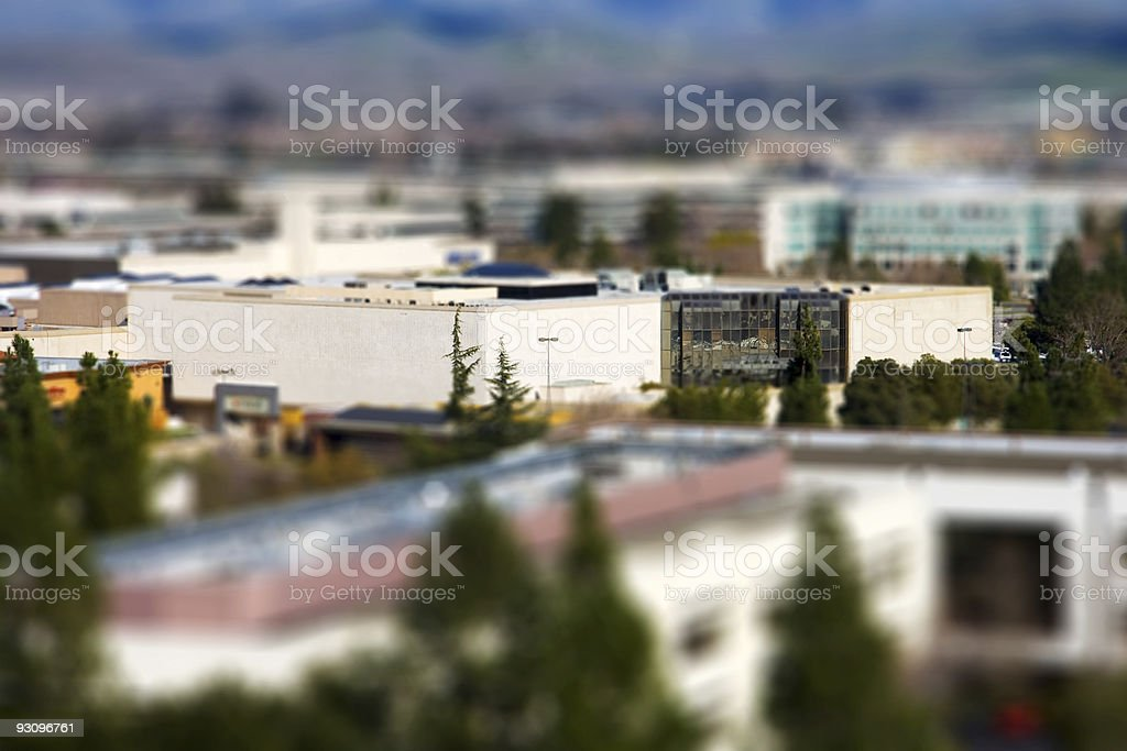 Tilt Shift Commercial Building stock photo
