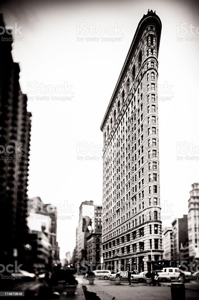 Tilt Shift image of Flatiron Building royalty-free stock photo