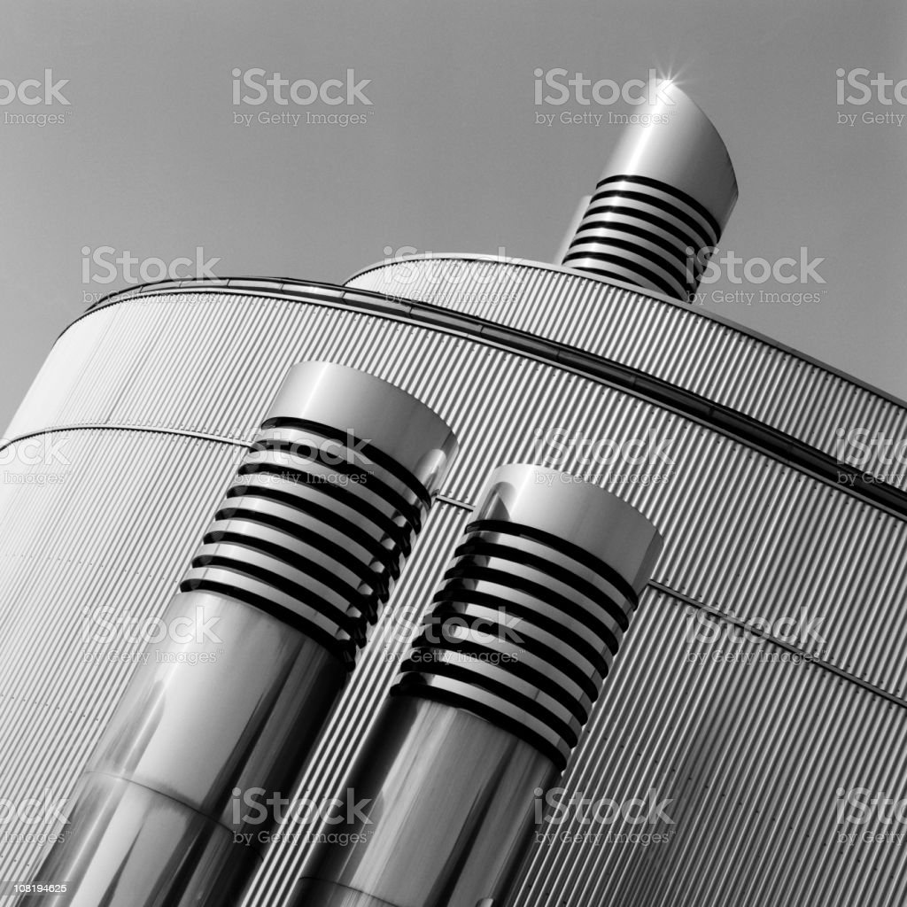 Tilt shot of abstract cogeneration plant royalty-free stock photo