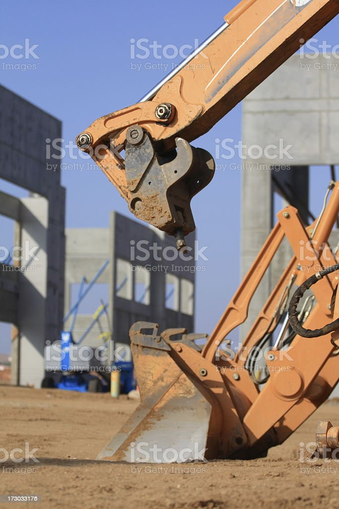 Tilt Up Construction Site royalty-free stock photo