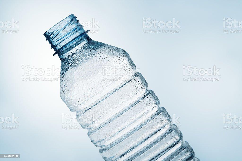 Tilt water bottle royalty-free stock photo