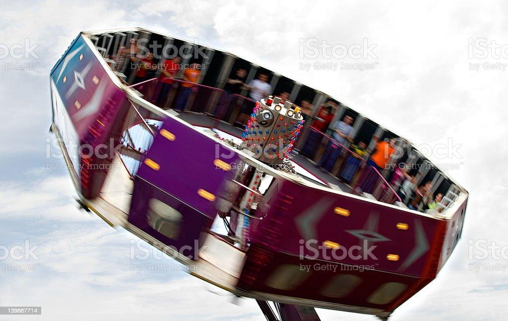 Tilt-a-Whirl at fair royalty-free stock photo