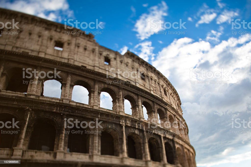 Tilted Coliseum royalty-free stock photo