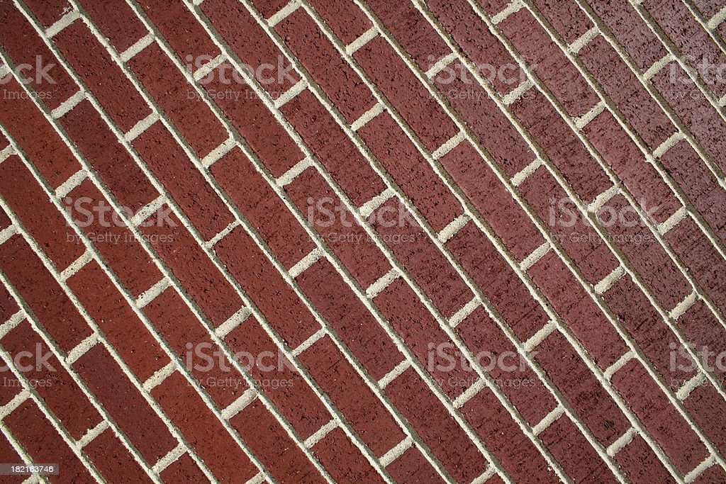 Tilted Red Brick Wall royalty-free stock photo