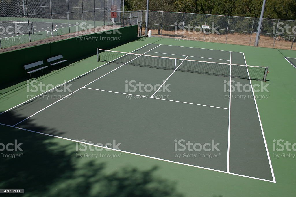 Tilted tennis court royalty-free stock photo